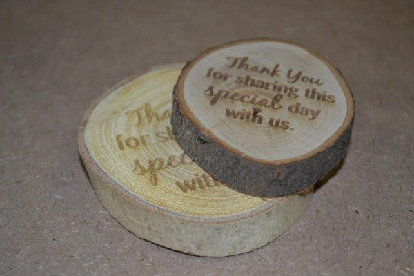 Cut 'n Etch Wooden Coin Favours