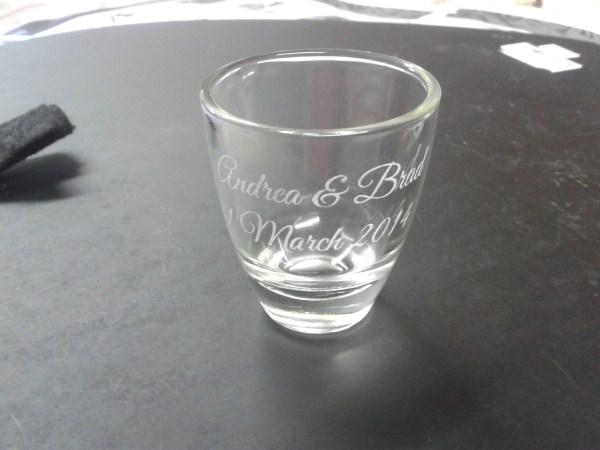 Cut 'n Etch Personalised tot glasses